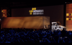 Amazon unveils Snowmobile for moving Exabytes if data the cloud